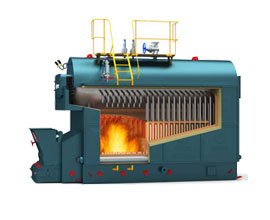 DZL Biomass Water Fire Tube Hot Water Boiler